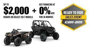 Can-Am Ready to Ride Sales Event General Offer